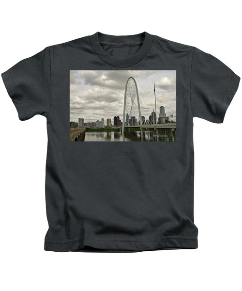 Dallas Suspension Bridge Kids T-Shirt