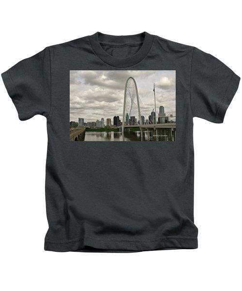 Dallas Suspension Bridge Kids T-Shirt