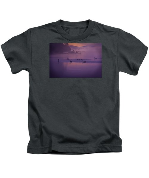 Dancing Geese Kids T-Shirt