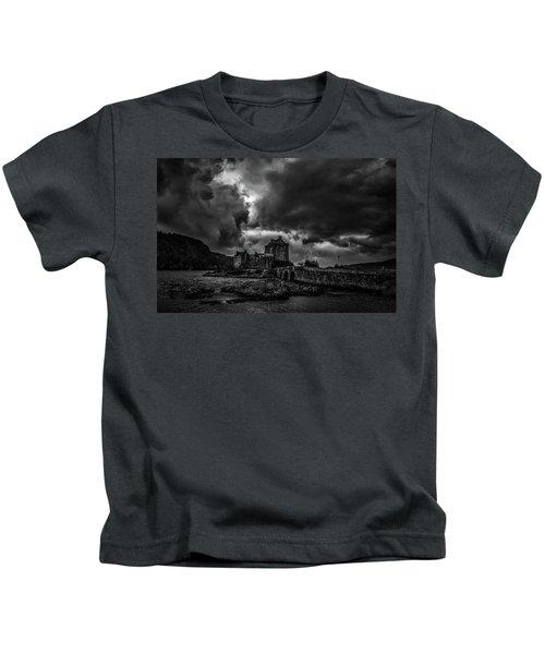 Dark Clouds Bw #h2 Kids T-Shirt
