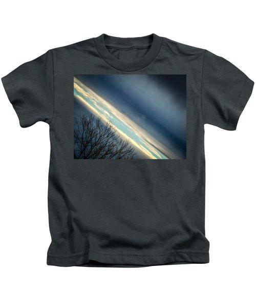 Dark Clouds Parting Kids T-Shirt