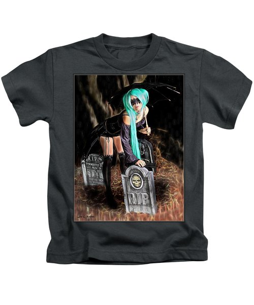 Dark Rain Kids T-Shirt