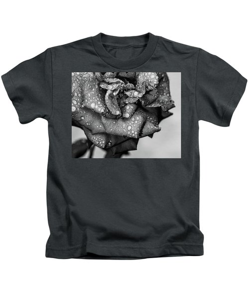 Dark Wet Rose Kids T-Shirt