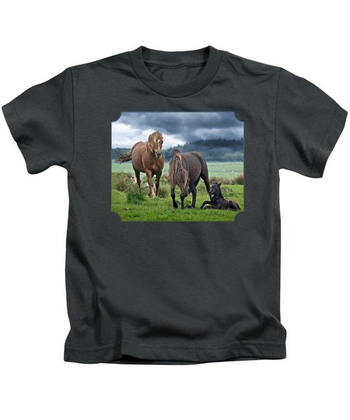 Dartmoor Ponies Kids T-Shirt