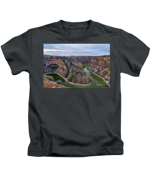 Dawn At Devils Overlook Bighorn Canyon Kids T-Shirt