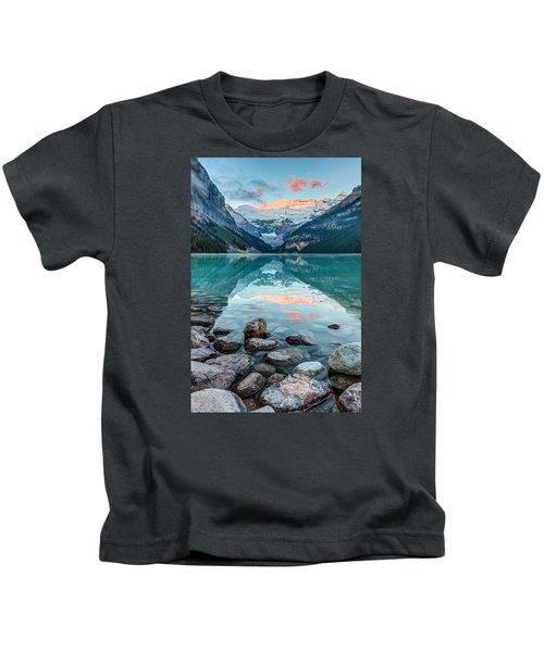 Dawn At Lake Louise Kids T-Shirt