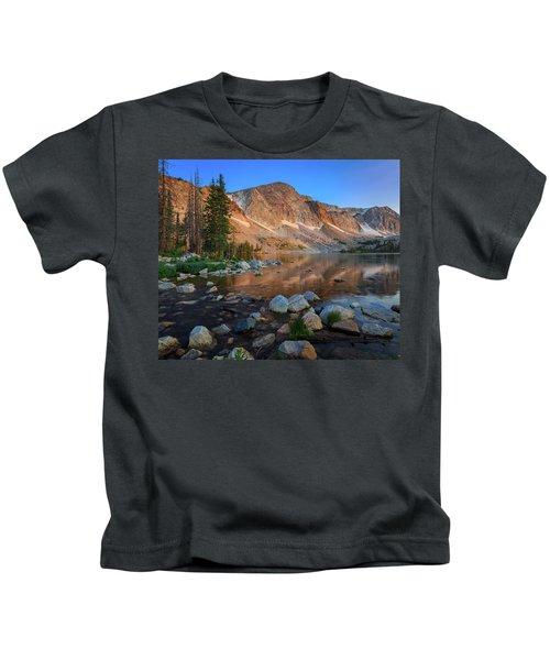 Dawn Breaks - Lake Marie, Snowy Range, Wyoming Kids T-Shirt