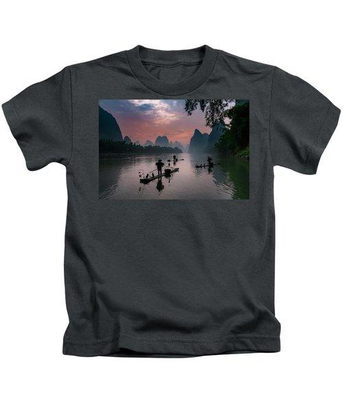 Waiting For Sunrise On Lee River. Kids T-Shirt