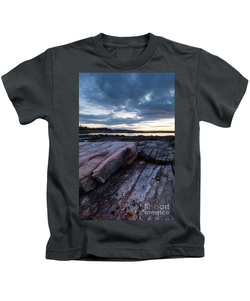Dawn On The Shore In Southwest Harbor, Maine  #40140-40142 Kids T-Shirt