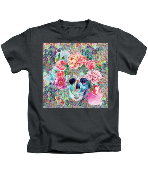 Day Of The Dead Watercolor Kids T-Shirt