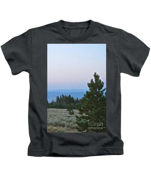 Daybreak On The Mountain Kids T-Shirt