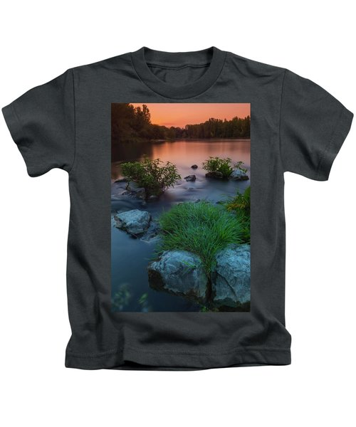 Daybreak Over The Old Riverbed Kids T-Shirt