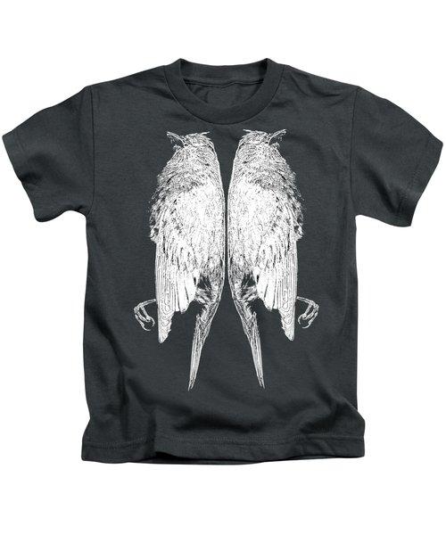 Dead Birds Tee White Kids T-Shirt by Edward Fielding