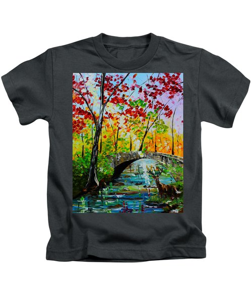 Deer Crossing Kids T-Shirt