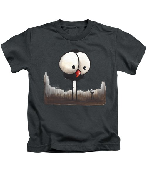 Defiant Little Spider Kids T-Shirt by Lucia Stewart