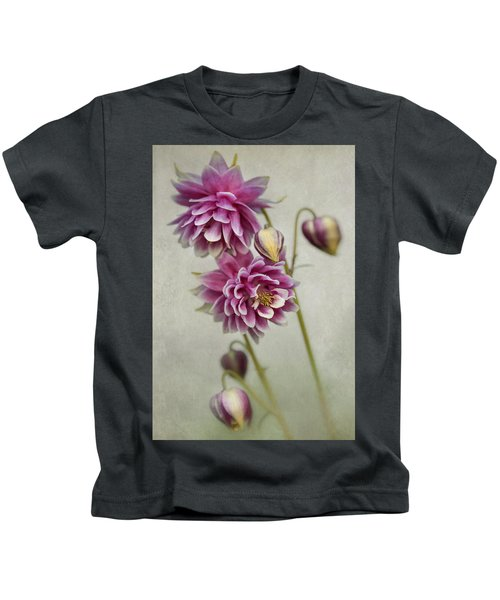 Delicate Pink Columbine Kids T-Shirt