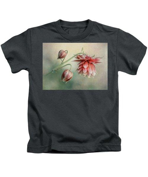 Delicate Red Columbine Kids T-Shirt
