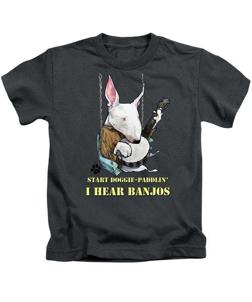 Deliverance Bull Terrier Caricature Art Print Kids T-Shirt