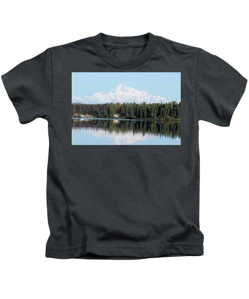Denali From Kashwitna Lake Kids T-Shirt