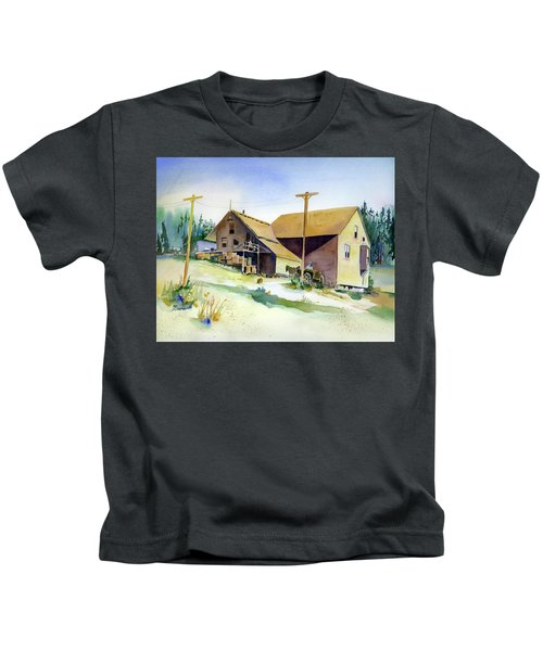 Depot Hill, Dutch Flat,1910 Kids T-Shirt
