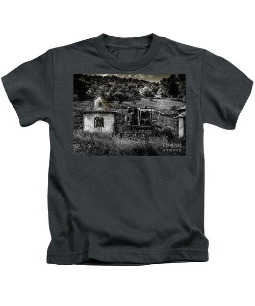 Derelict Farm, Transylvania Kids T-Shirt