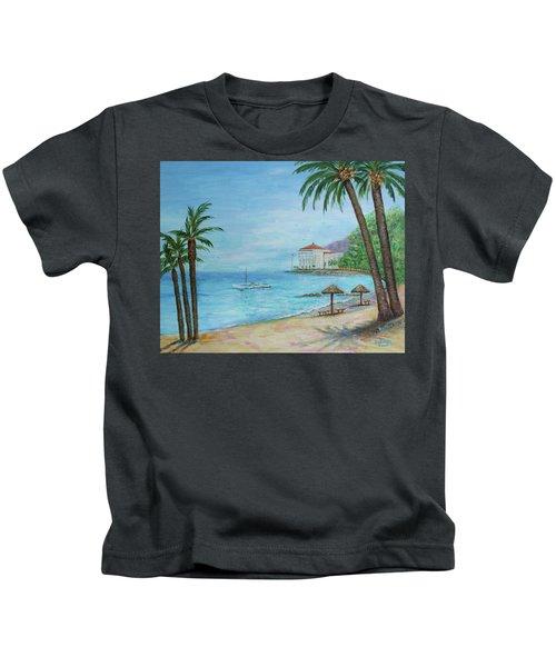 Descanso Beach, Catalina Kids T-Shirt