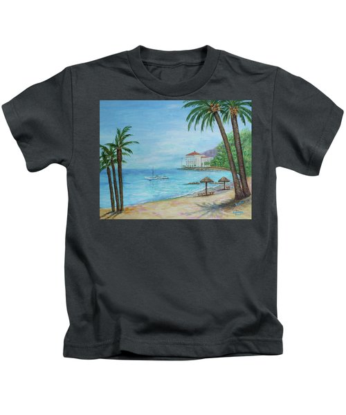 Descanso Beach, Catalina Kids T-Shirt