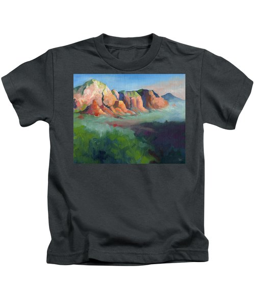 Desert Afternoon Mountains Sky And Trees Kids T-Shirt