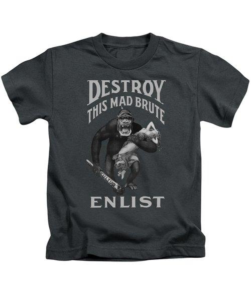 Destroy This Mad Brute - Enlist - Wwi Kids T-Shirt