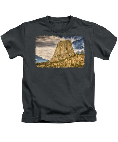 Devils Tower Inspiration 3 Kids T-Shirt