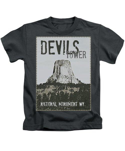 Devils Tower Stamp Kids T-Shirt