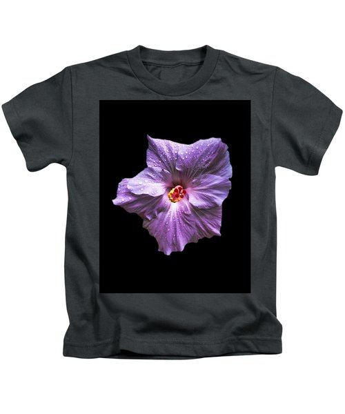 Dew Kissed Hibiscus Kids T-Shirt