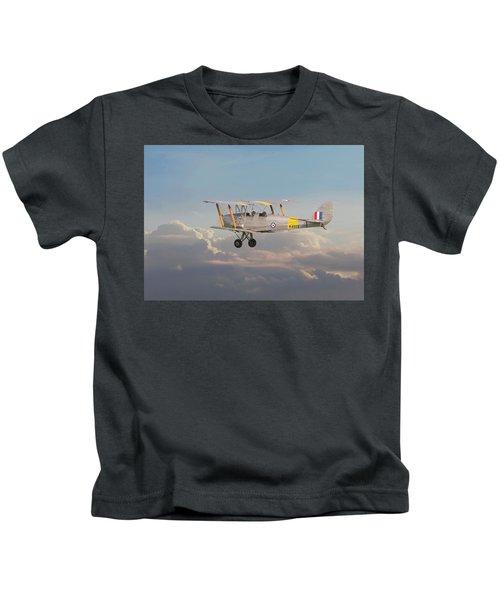 Dh Tiger Moth - 'first Steps' Kids T-Shirt