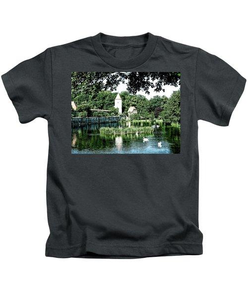 Dinkelsbuhl And Rothenburg Pond Kids T-Shirt