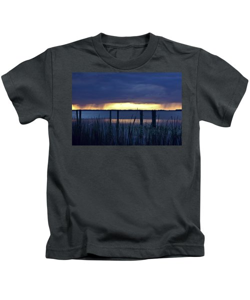 Distant Storms At Sunset Kids T-Shirt