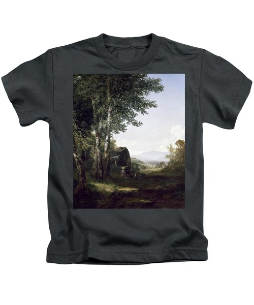 Distant View Of The Mansfield Mountain Vermont Kids T-Shirt