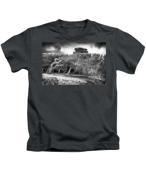 Distorted Trees Kids T-Shirt