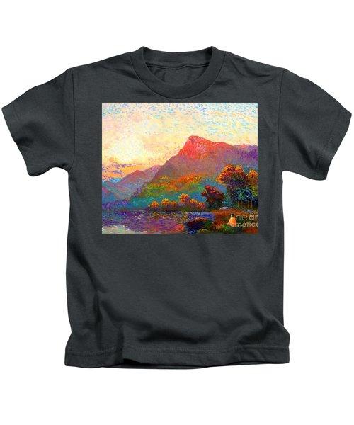 Buddha Meditation, Divine Light Kids T-Shirt