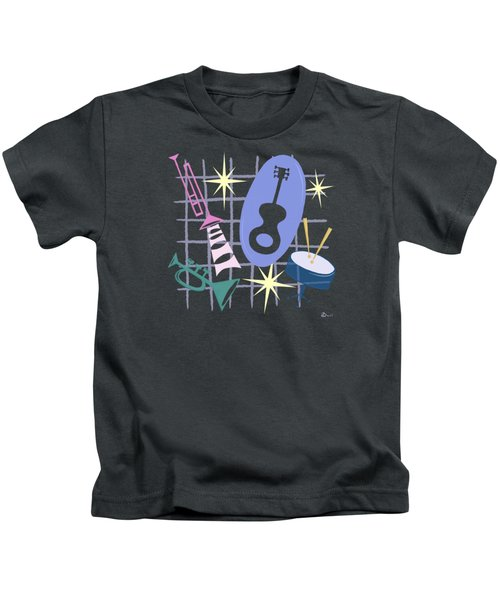 Django Jazz Composition In Purple Kids T-Shirt