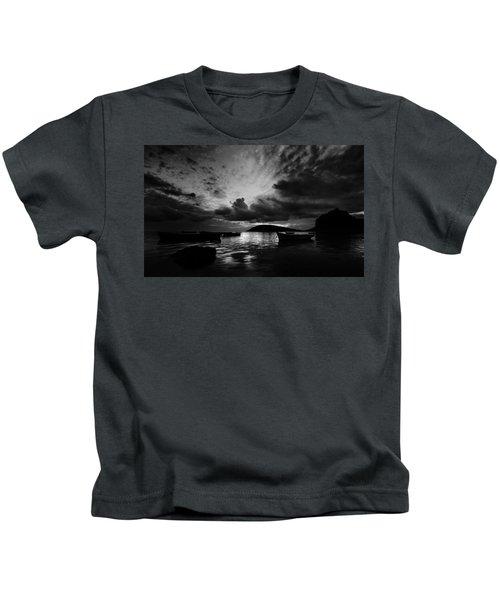 Docked At Dusk Kids T-Shirt
