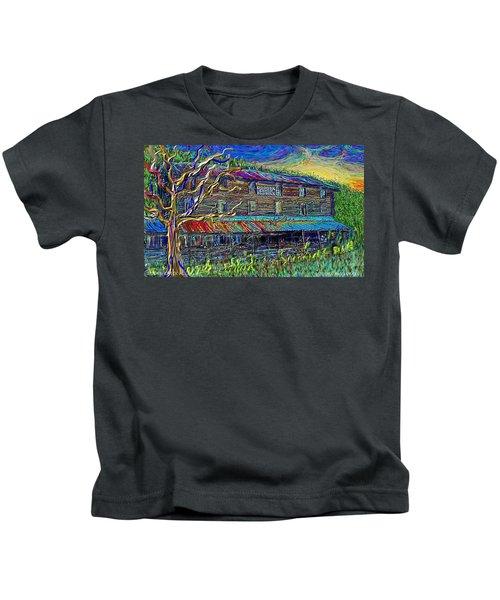 Dodds Creek Mill, ,floyd Virginia Kids T-Shirt