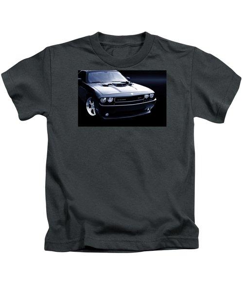 Dodge Challenger Blackbird Sr-71 Kids T-Shirt by Thomas Burtney