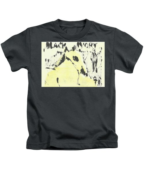 Dog At The Beach - Black Ivory 1 Kids T-Shirt