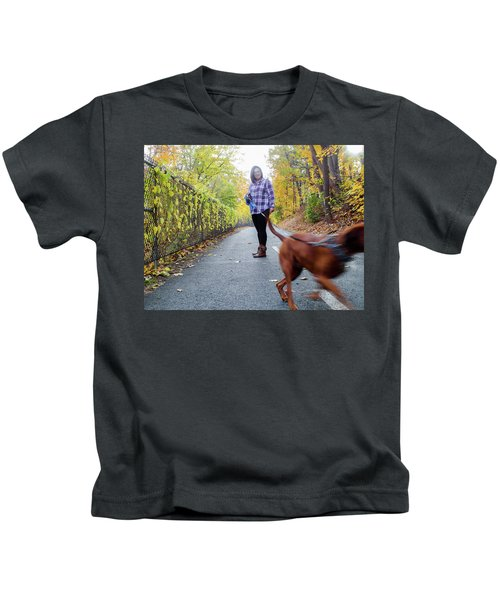 Dogwalking Kids T-Shirt