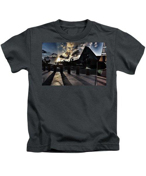 Dolphin Hotel Sunset Kids T-Shirt