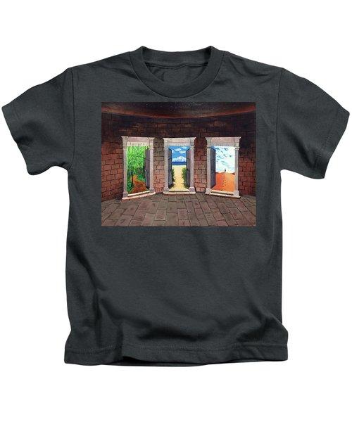 Door Number Three Kids T-Shirt