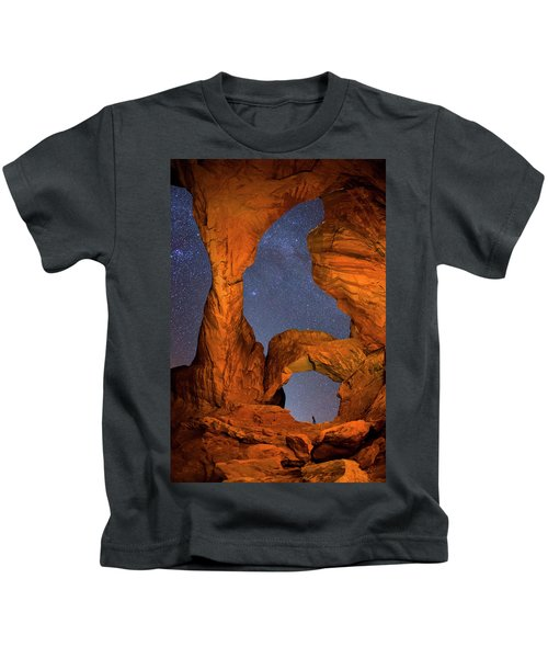 Double Arch At Night Kids T-Shirt