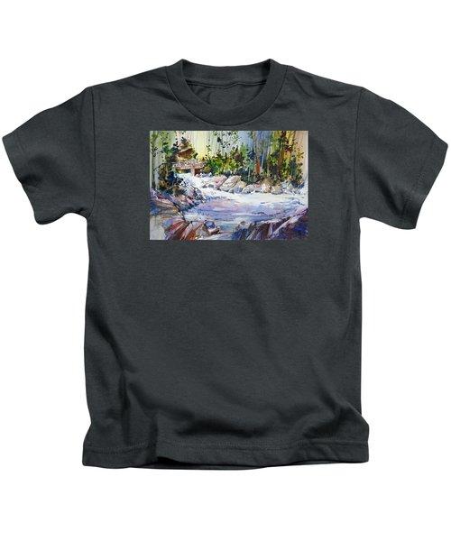 Down Stream On Hoppers Creek Kids T-Shirt