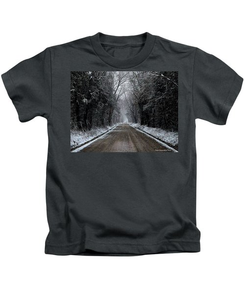 Down The Winter Road Kids T-Shirt