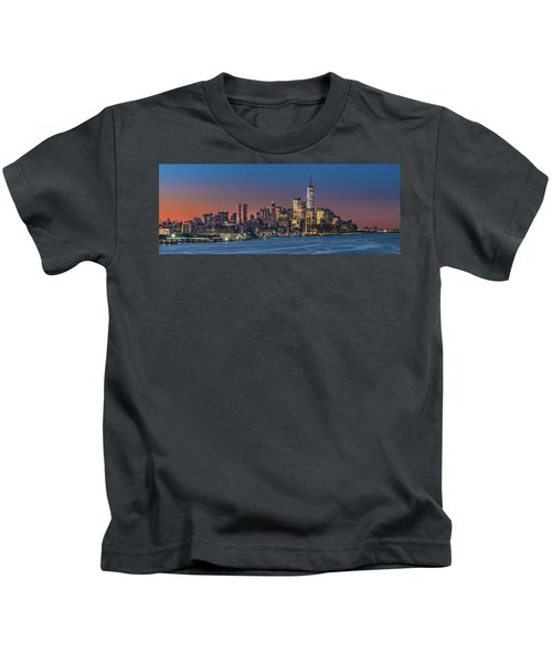 Downtown And Freedom Tower Kids T-Shirt